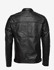 Jack & Jones - JJEROCKY JACKET NOOS - læderjakker - black - 1