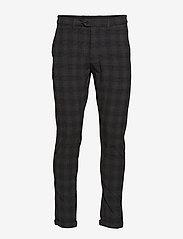 Jack & Jones - JJIMARCO JJCONNOR AKM773 DG CHECK - kostymbyxor - dark grey - 0