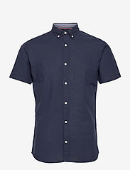 Jack & Jones - JJESUMMER SHIRT S/S S21 STS - basic skjorter - navy blazer - 0