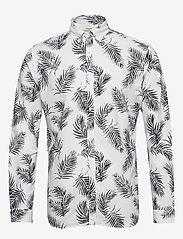 Jack & Jones - JPRBLASUMMER LEAF SHIRT L/S S20 - casual skjortor - white - 0