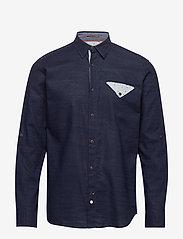 Jack & Jones - JORCHANDLER SHIRT LS - basic skjortor - navy blazer - 0