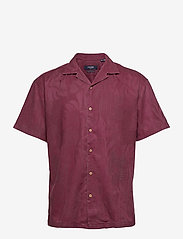 Jack & Jones - JPRBLUCOOPER RESORT SHIRT S/S RELAX - linneskjortor - zinfandel - 0