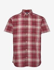 Jack & Jones - JPRBLUHUNTER SHIRT S/S ONE POCKET - kortärmade skjortor - red dahlia - 0