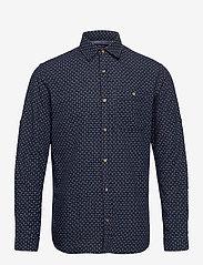 Jack & Jones - JPRBLUEASTON SHIRT L/S ONE POCKET - casual skjortor - navy blazer - 0