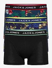 Jack & Jones - JACFLOWER TRUNKS 3 PACK. - bokserki - black - 0