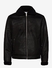 Jack & Jones - JJFLIGHT JACKET - skinnjakker - black - 1