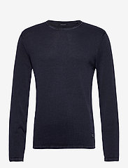 Jack & Jones - JJELEO KNIT CREW NECK NOOS - tricots basiques - navy blazer - 0