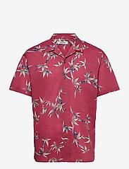 Jack & Jones - JJGREG AOP SHIRT SS PLAIN - kortärmade skjortor - slate rose - 0