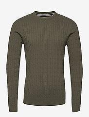 Jack & Jones - JJRICHARD KNIT CREW NECK - tricots basiques - dusty olive - 0