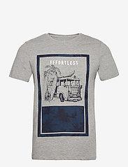 Jack & Jones - JORNATURE TEE SS CREW NECK - kortärmade t-shirts - light grey melange - 0