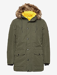 Jack & Jones - JJSKY PARKA JACKET LTN - parkas - forest night - 0