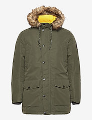 Jack & Jones - JJSKY PARKA JACKET LTN - parkas - forest night - 1