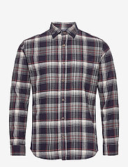 Jack & Jones - JPRBLUJAMIE SHIRT L/S ONE POCKET - rutiga skjortor - navy blazer - 0