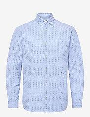 Jack & Jones - JPRBLALOGO STRETCH SHIRT AOP L/S - basic skjortor - cashmere blue - 0