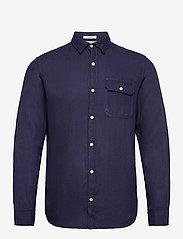 Jack & Jones - JORNICKI SHIRT LS - basic skjortor - dark blue denim - 0