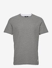 Jack & Jones - JPRBLATAYLOR TEE SS CREW NECK - basic t-shirts - light grey melange - 0