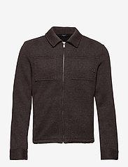 Jack & Jones - JPRBLADAWN SWEAT JACKET - basic sweatshirts - grey melange - 1