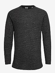 Jack & Jones - JCOOZIL TEE LS CREW NECK NOOS. - basic t-shirts - black melange - 0