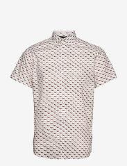 Jack & Jones - JORANDREW SS SHIRT SH - kortärmade skjortor - white - 0