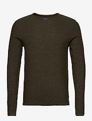 Jack & Jones - JPRBLUCARLOS KNIT CREW NECK NOOS - tricots basiques - olive night - 0