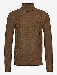 Jack & Jones - JJKIM KNIT ROLL NECK - tricots basiques - sepia tint - 0