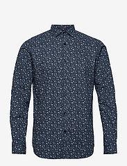 Jack & Jones - JPRBLABLACKBURN SHIRT L/S W20 - casual skjortor - dark navy - 0