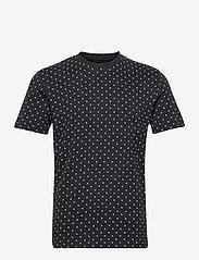 Jack & Jones - JJMINIMAL AOP TEE SS CREW NECK - kortärmade t-shirts - dark navy - 0