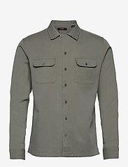 Jack & Jones - JPRBLATENCEL SHIRT L/S - rutiga skjortor - sedona sage - 0