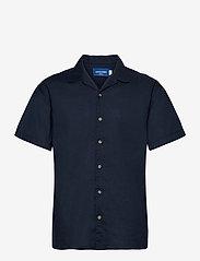 Jack & Jones - JORTOWER SHIRT SS - basic skjortor - navy blazer - 0