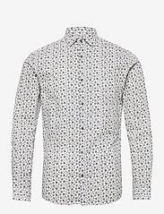 Jack & Jones - JPRBLAOCCASION MINIMAL SHIRT L/S LTN - casual skjortor - white - 0