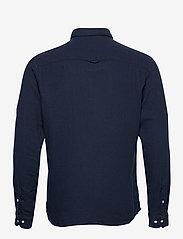 Jack & Jones - JPRBLUNICK MIX SHIRT L/S ONE POCKET LTN - basic skjortor - dark blue denim - 1