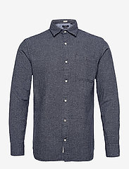 Jack & Jones - JPRBLUNICK MIX SHIRT L/S ONE POCKET LTN - basic skjortor - dark navy - 0