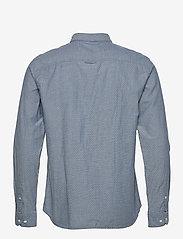 Jack & Jones - JPRBLUNICK MIX SHIRT L/S ONE POCKET LTN - basic skjortor - medium blue denim - 1