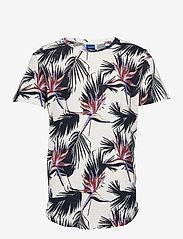 Jack & Jones - JORFLORALL TEE SS CREW NECK - kortärmade t-shirts - cloud dancer - 0