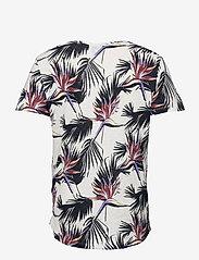 Jack & Jones - JORFLORALL TEE SS CREW NECK - kortärmade t-shirts - cloud dancer - 1