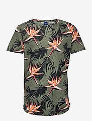 Jack & Jones - JORFLORALL TEE SS CREW NECK - kortärmade t-shirts - sea spray - 0