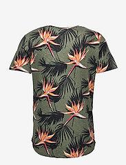 Jack & Jones - JORFLORALL TEE SS CREW NECK - kortärmade t-shirts - sea spray - 1