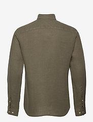 Jack & Jones - JPRBLUPLAIN LINEN SHIRT L/S - basic skjortor - beetle - 1