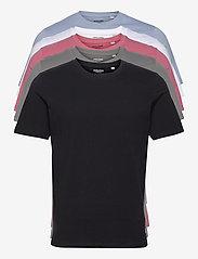 Jack & Jones - JJEORGANIC BASIC TEE SS O-NECK 5PK MP - basic t-shirts - black - 0