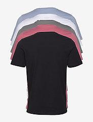 Jack & Jones - JJEORGANIC BASIC TEE SS O-NECK 5PK MP - basic t-shirts - black - 10