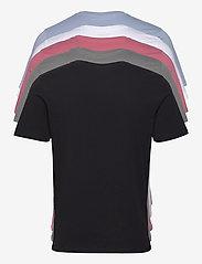 Jack & Jones - JJEORGANIC BASIC TEE SS O-NECK 5PK MP - basic t-shirts - black - 1