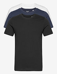 Jack & Jones - JJEORGANIC BASIC TEE SS O-NECK 3PK MP - basic t-shirts - black - 0