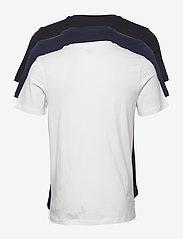 Jack & Jones - JJELOGO TEE SS O-NECK 2 COL SS21 3PK MP - kortärmade t-shirts - black - 6
