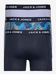 Jack & Jones - JACLEAF BLUE TRUNKS 3 PACK LTN - bokserki - black iris - 1