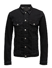 JJIALVIN JJJACKET JOS 736 LID NOOS - BLACK DENIM