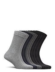 Jack & Jones - JACJENS SOCK 10 PACK NOOS - normalne skarpetki - dark grey melange - 0