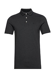 JJEPAULOS POLO SS - DARK GREY MELANGE