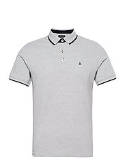 JJEPAULOS POLO SS - LIGHT GREY MELANGE