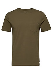 JJEPOCKET TEE SS O-NECK NOOS - OLIVE NIGHT