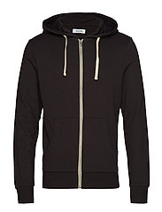 JJEHOLMEN SWEAT ZIP HOOD NOOS - BLACK